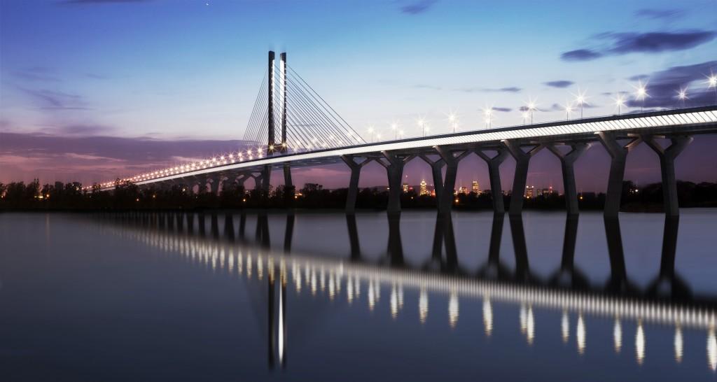 3D render of the New Champlain Bridge