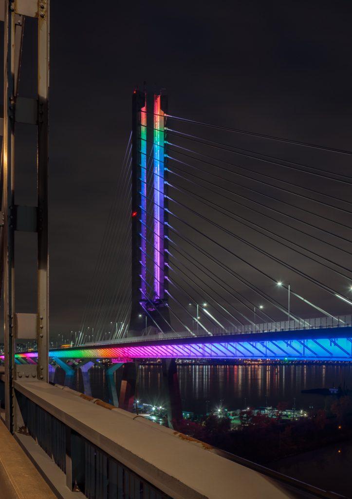 Samuel De Champlain Bridge lightening