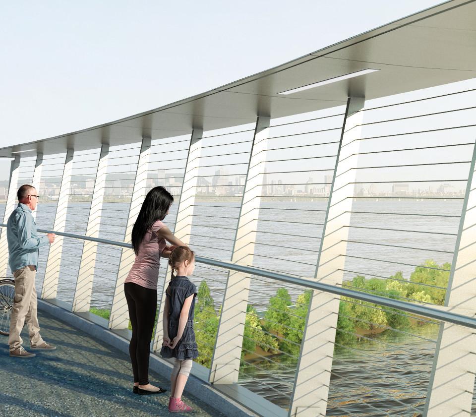 Le nouveau pont Champlain, un espace pour la communauté.