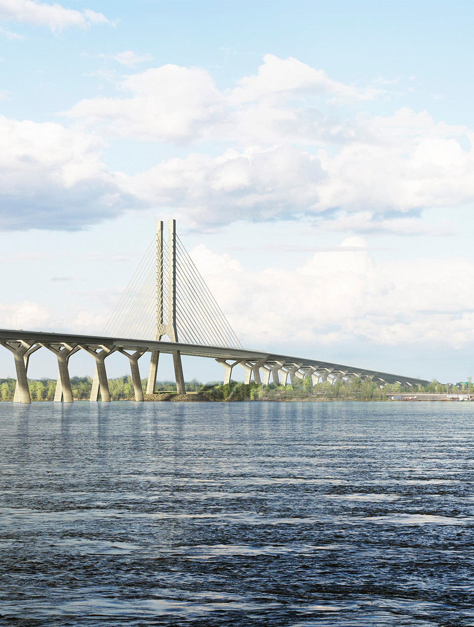 Le nouveau pont Champlain dans toute sa splendeur